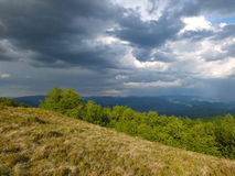 Bad weather in mountains Royalty Free Stock Photos