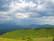 Bad weather in mountains Royalty Free Stock Photo
