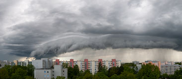 Bad weather in Munich - Neuperlach Royalty Free Stock Photography