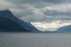 Bad weather at Norwegian coast. Norway in summer Royalty Free Stock Photography