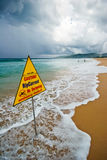 Bad Weather On The Beach Royalty Free Stock Photos