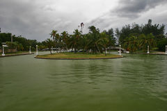 Bad weather in park of Varadero Stock Photography