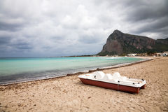 Bad weather San Vito, Sicily Stock Photography