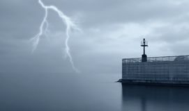 Bad weather on the sea Royalty Free Stock Image