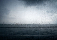 Bad weather at sea royalty free stock photography