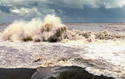 Bad weather. Storm at sea, bad weather stock photo