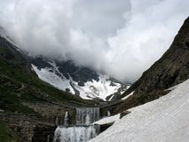 Bad weather in thje mountains Stock Image