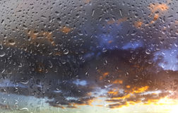 Bad weather. Water, rain and storm stock image