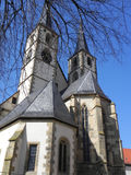 Bad Wimpfen in Germany. Cathedral of Bad Wimpfen. Bad Wimpfen is an historic town in the district of Heilbronn in the Baden-Württemberg region of southern Stock Photos