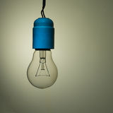 Bad wiring - old incandescent light bulb Stock Photography