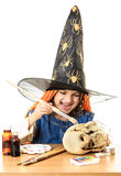 Bad witch expression Stock Images