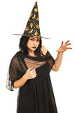 Bad witch showing hand Royalty Free Stock Images