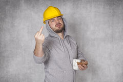 Bad worker ate lunch Royalty Free Stock Images