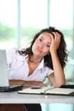Bad working day royalty free stock photo