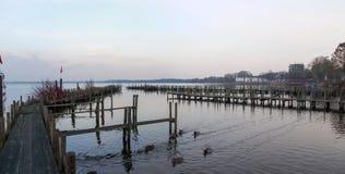 Bad Zwischenahn, walkway over the Lake Stock Photography