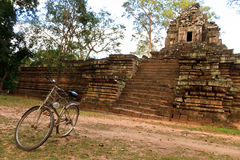 Badać Angkor Wat bicyklem Fotografia Stock