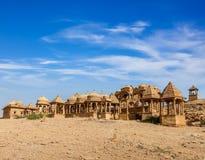 Bada Bagh, Jaisalmer,拉贾斯坦,印度 免版税库存照片