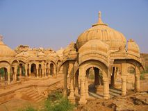 Bada Bagh Cenotaphs, Jaisalmer Lizenzfreie Stockfotografie