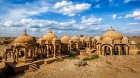 Bada Bagh cenotaphs in Jaisalmer, Rajasthan, India Royalty Free Stock Photos