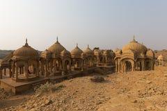 Bada Bagh in Jaisalmer, de staat van Rajasthan, India Stock Afbeelding