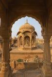Bada Bagh in Jaisalmer, de staat van Rajasthan, India Stock Fotografie