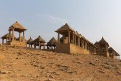 Bada Bagh in Jaisalmer, de staat van Rajasthan, India Royalty-vrije Stock Foto