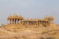 Bada Bagh in Jaisalmer, de staat van Rajasthan, India Stock Afbeeldingen