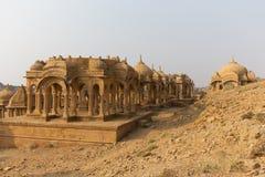 Bada Bagh in Jaisalmer, de staat van Rajasthan, India Royalty-vrije Stock Afbeeldingen
