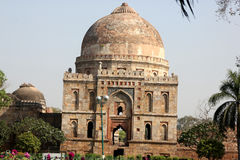 Bada Gumbad Mosque, Lodhi Gardens, Delhi Stock Photography