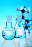 Bada i eksperymenty, jaskrawy nowożytny chemiczny pojęcie Fotografia Royalty Free