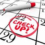 badań kontrolnych słów Kalendarzowego przypomnienia egzaminu Nominacyjny rozkład Obraz Stock