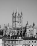 Badabbotskloster i bad i svartvitt Arkivfoto
