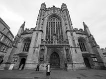 Badabbotskloster i bad i svartvitt Royaltyfria Bilder