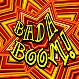 Badaboom可笑的动画片 库存例证