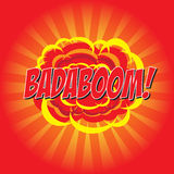 BADABOOM! κωμική λέξη Στοκ φωτογραφία με δικαίωμα ελεύθερης χρήσης