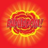 BADABOOM! komiskt ord Royaltyfri Fotografi