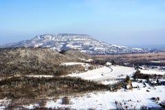 Badacsony nell'orario invernale al Balaton Immagini Stock