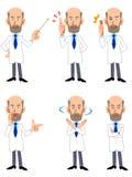 badacz Dr Weteran samiec 6 pozy set royalty ilustracja