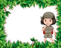 Badacz dziewczyna w dżungli ilustracji