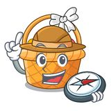 Badacza Easter kosza miniatura kształt maskotka ilustracji