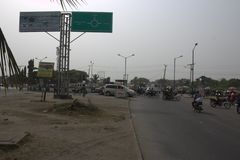 Badagry-Kreuzung Lagos, Nigeria lizenzfreies stockbild