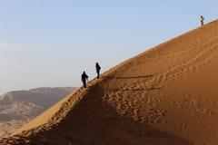 Badain Jaran Desert - Alashanyou Qi - Innere Mongolei - China lizenzfreie stockbilder