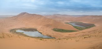 Badain Jaran Desert royalty free stock photography