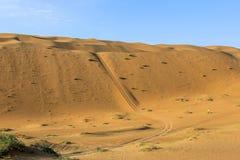 Badain Jaran Desert with huge sandunes and lakes royalty free stock image