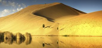 Badain Jaran pustynia zdjęcia royalty free