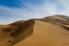 Badain Jaran Wüste stockfotos