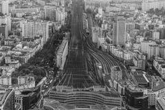 Badający widoki Paris wśród few dni Obrazy Royalty Free