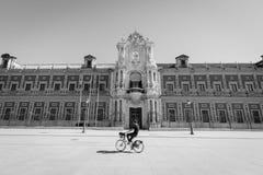 Badający rowerem Seville, Hiszpania Obrazy Royalty Free