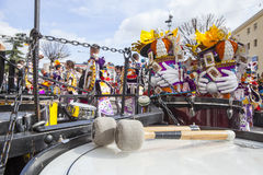 Badajoz καρναβάλι 2016 Κρούσεις συγκροτημάτων Στοκ Εικόνες