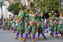 Badajoz καρναβάλι 2016 Παρέλαση συγκροτημάτων Στοκ Φωτογραφίες